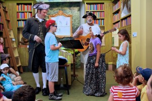 "Kids step into the Revolutionary song ""Soldier, Soldier"" with the Ramblers at the New-York Historical Society July Fourth Celebration."