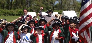 "Crompond ""Redcoat"" kids at Encampment Day with Jonathan & Rich."